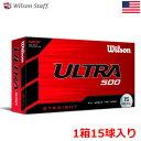 【土日祝も発送】【15球入】ウイルソンスタッフ ULTRA500 STRAIGHT ゴルフボール 1箱15球入 USA直輸入品 2020 Wilson Staff Golf Ball USA直輸入品【お買得】【激安】【激安ボール】