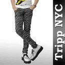 Tripp NYC(トリップ ニューヨーク)ブラック ゼブラ スキニースキニー 柄,インパクトのあるロックファッション,スキニー ジーンズrock,punk,ロック、パンクファッション,メンズスキニー,スキニーデニム 【RCP】05P28oct13