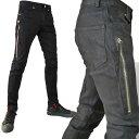 ブラック スキニーパンツ ZIP(ジッパー)アクセント ジーンズ デニム アシンメトリー ロック スタイル パンク ファッション メンズ スキニー ロック テイスト デニム ジーパン カーゴ(人気 ブラック 黒 バイク 細身パンツ バイカー)   コーデ