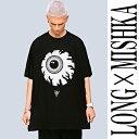 long clothing ロングクロージング×mishka ミシカ コラボ 目玉Tシャツ/ビッグTシャツ ロック パンク ファッション ロックtシャツ メンズ...