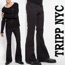 ベルボトム ジーンズ TRIPP NYC トリップ ニューヨークブーツカット ブラック ロック デニム パンク ロックファッション tripp nyc か..