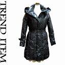 【ダウンコート】毎日使うコートもシルエットに気をつかう!さすが百貨店品質!ダウンの詰まり具合がスゴイです♪ファーの質感もハイレベル♪【グランパス優勝セール】フォックスファー付ダウンコート