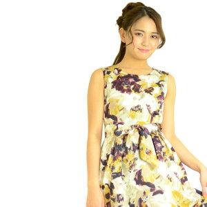 【プレミアムシリーズ】JENNY花柄フィット&フレアワ