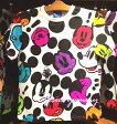 Tシャツ ミッキー カラフル ホワイト S,M,L,LL ☆東京ディズニーリゾートお土産袋付き!【DISNEY】