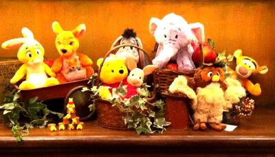 【東京ディズニーランド限定】くまのプーさんと仲間たち♪ぬいぐるみ8体セット!プーさん、ピグレット、ティガー、イーヨー、カンガ・ルー、ラビット、オウル、ランピー☆