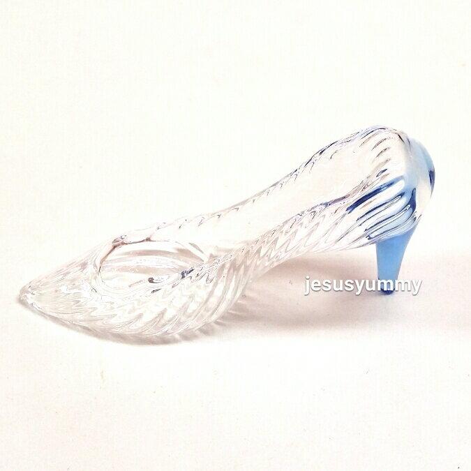 シンデレラガラスの靴クリヤー×ブルーブルーヒールSサイズシンデレラ城ガラス細工ディズニーリゾートお土