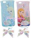 【SALE】 Frozen スマートフォンケース スマホケース アナ/エルサ  iPhone6対応 リボンがついたイヤホンジャックつき 東京ディズニーリゾートお土産袋つき【Disney】