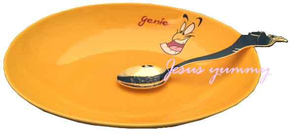 ジーニー カレープレート&スプーン 皿 ☆東京ディズニーリゾートお土産袋付き♪ 【DISN…...:jesus-yummy:10002804