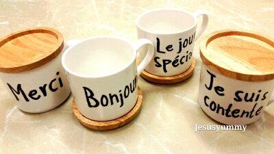 【日本製】ナチュラル可愛いフランス語ケーキプレート皿Merci/Bonjour/Special/Conteneお家でカフェ