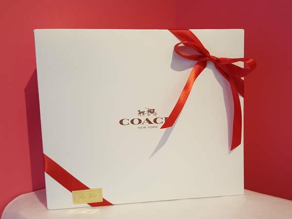 【同時購入者様限定】プレゼントに!バッグ ご購入の方限定!コーチ COACH ギフトボックス ラッピング 大型 ギフト用 アウトレット