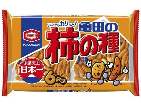 亀田/亀田の柿の種 6袋 210g