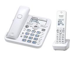 パナソニック/デジタルコードレス電話機 子機1台付 ホワイト