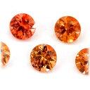 (ラウンド3.5mm前後)オレンジサファイア のリーズナブル 宝石 ルース ストーン