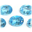 (before and after Oval 18x13mm) a reasonable stone of the blue topaz