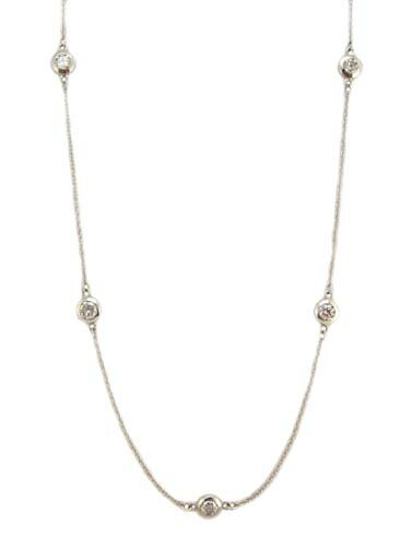 ダイヤモンド ステーション ネックレス  プラチナ製