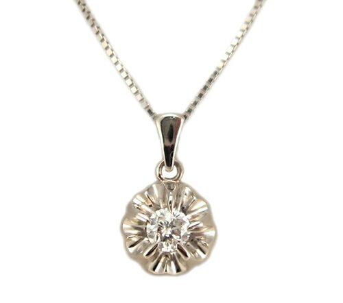 ダイヤモンド お花のペンダント プラチナ製