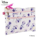 (Disney) ディズニーライン 『ミニー』 マルチフラットポーチ ピンク / 33284