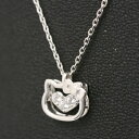 [hello kitty HELLO KITTY] Hello Kitty Vibrate open-faced sandwich pendant SWAROVSKI ZIRCONIA (Swarovski zirconia) Kitty accessories [smtb-m] [easy  _ packing choice] a present gift [fs2gm]