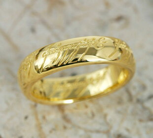 The One Ring ( the one ) ◆ gold 24 k gold (K24) ◆ load-of-the-ring limited accessories Christmas wrapping