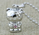 [free shipping] hello kitty stone amulet for an easy delivery silver pendant  October pink tourmaline  HELLO KITTY necklace Kitty goods accessories [smtb-m] [easy  _ packing choice] [excellent comfortable  _ case] [is targeted for review CP] a present gift [fs2gm]