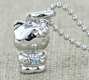 [free shipping] zircon  HELLO KITTY necklace Kitty goods accessories [smtb-m] blue in hello kitty stone amulet for an easy delivery silver pendant  December [easy  _ packing choice] [excellent comfortable  _ case] [is targeted for review CP] a present gift [fs2gm]