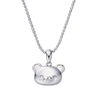 Rilakkuma face pendant necklace (semi-solid) Silver 925 Accessories pendant necklace TRD! bear toy birthday gifts gift Rilakkuma necklace pendant toy fs3gm