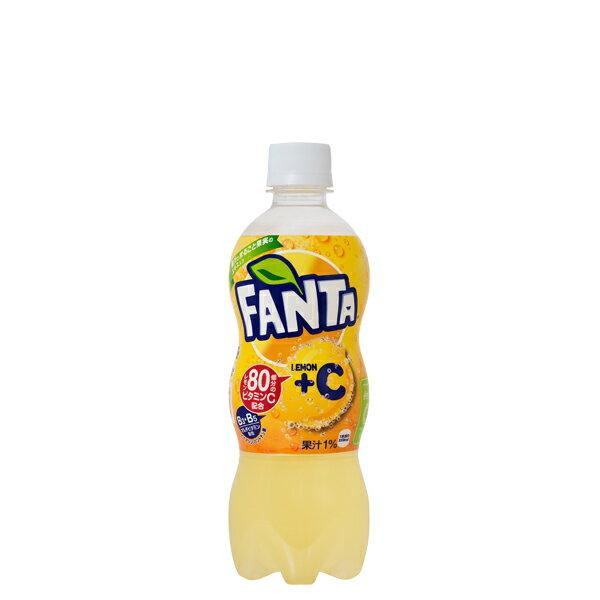 【送料無料】ファンタレモン+C 500mlPET【1ケース=24本入り】【コカ・コーラ社 直送便】