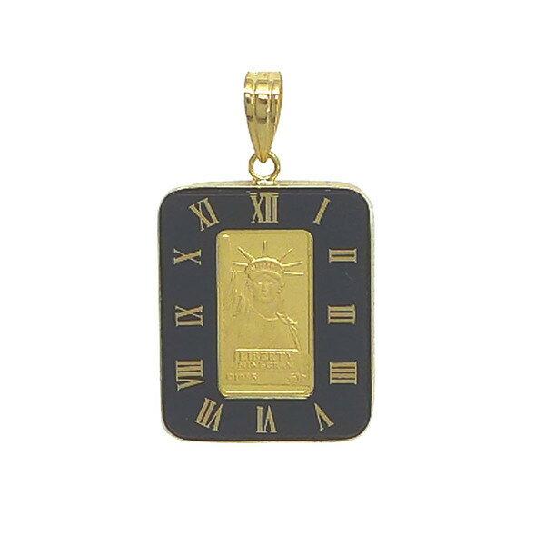 K24Gリバティコイン K24(純金) 1g リバティコイン K18枠付きペンダントトップ 純金コイン リバティコイン K24 1g 24KG