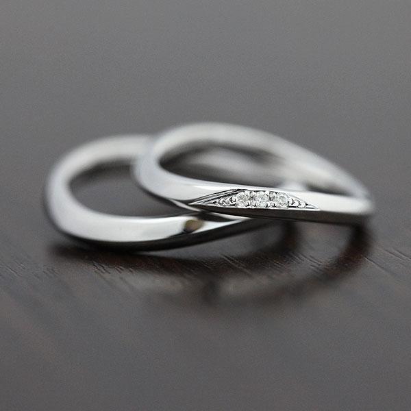 PT100(Pt10%) ダイヤモンド 0.03ct マリッジリング プラチナ ペアリング【結婚指輪】 【送料/刻印無料】シンプルに華やかに♪ダイヤモンド0.03カラット プラチナペアリング
