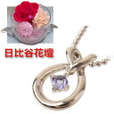 Just lapping free of charge ◆( Mother's Day limitation) (Brand Jewelry with me.) ) (December stone amulet for an easy delivery) tanzanite Bath D pendant necklace (with the Hibiya flower bed carnation) [SUEHIRO]