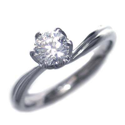 AneCan掲載 ( 婚約指輪 ) ダイヤモンド プラチナエンゲージリング( Brand Jewelry アニーベル ) ソリティア 一粒 【楽ギフ_包装】【DEAL】