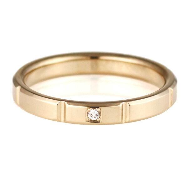 結婚指輪 マリッジリング ペアリング ダイヤモンド K18ハニーイエローゴールド Mint 人気【楽ギフ_包装】