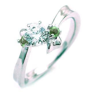 ( 5月誕生石 ) エメラルド Pt ダイヤリング(婚約指輪・エンゲージリング)【楽ギフ_包装】【DEAL】