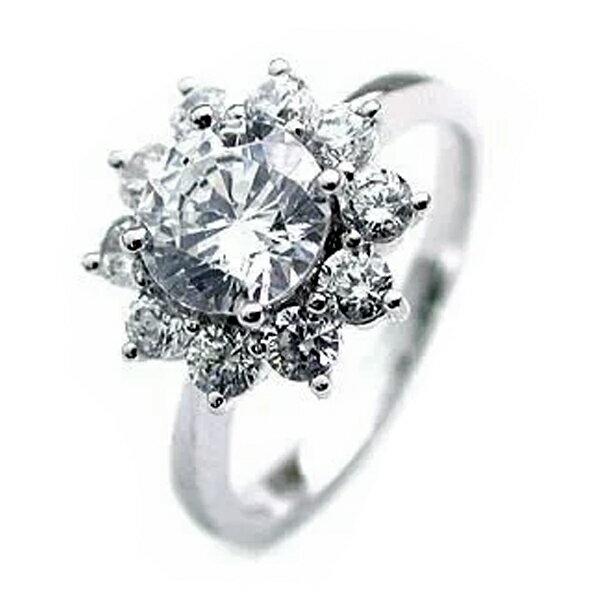 (Brand アニーベル) Pt ダイヤモンドデザインリング(婚約指輪・エンゲージリング)【楽ギフ_包装】