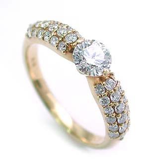 パヴェ AneCan掲載 (Brand アニーベル) Pt ダイヤモンドデザインリング(婚約指輪・エンゲージリング) メレ 【楽ギフ_包装】
