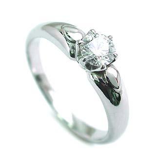 AneCan掲載 (Brand アニーベル) Pt ダイヤモンドデザインリング(婚約指輪・エンゲージリング) ソリティア 一粒 【楽ギフ_包装】【DEAL】