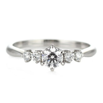 訂婚戒指鑽石鑽石戒指訂婚戒指鉑金 950 四類 0.30 ct 評價。