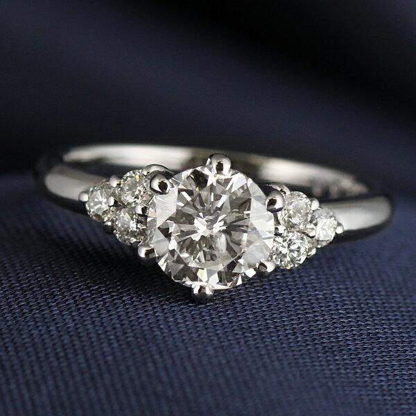 AneCan掲載 (Brand アニーベル) Pt ダイヤモンドデザインリング(婚約指輪・エンゲージリング)【楽ギフ_包装】【DEAL】