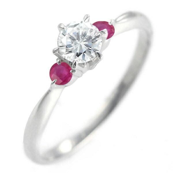 ( 婚約指輪 ) ダイヤモンド エンゲージリング( 7月誕生石 ) ルビー【楽ギフ_包装】
