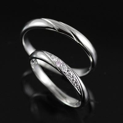 ペアリング プラチナ Pt ( Brand Jewelry TwinsCupid ) プラチナ900ダイヤモンド(ミルキーウェイ)【楽ギフ_包装】