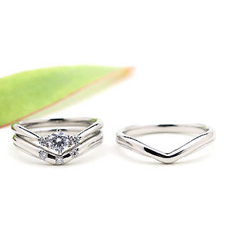 ( Brand Jewelry fresco ) プラチナ ダイヤモンドリング(婚約指輪・結婚指輪)エンゲージ マリッジ セット 3本【楽ギフ_包装】【DEAL】