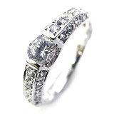 【今なら Brand Jewelry Angerosa ) Pt ダイヤモンドリング(婚約指輪・エンゲージリング)【楽ギフ包装】