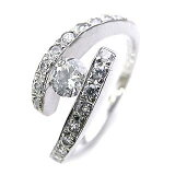 Brand Jewelry Angerosaラッピング無料◆( Brand Jewelry Angerosa ) Pt ダイヤモンドリング(婚約指輪・エンゲージリング)【マラソン2