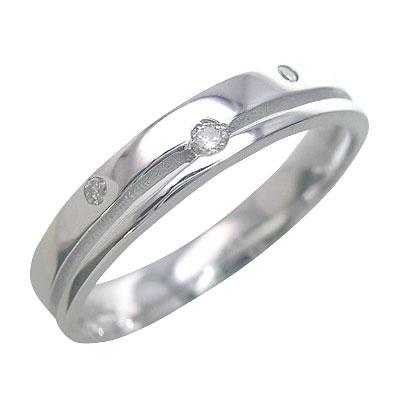 ( Brand Jewelry me. ) ホワイトゴールド ダイヤモンド ペアリング【楽ギフ_包装】