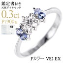 Just lapping free of charge  (engagement ring) diamond platinum engage ring (December stone amulet for an easy delivery) tanzanite [SUEHIRO]