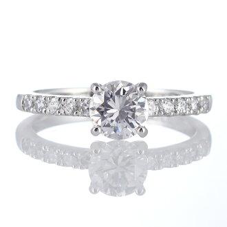 鑽石戒指白金鑽石戒指 1 克拉紙牌一巨大差異。