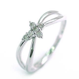 ( K18WG )ダイヤモンドデザインリング【楽ギフ_包装】【クリスマス】