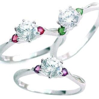 誕生石--白金鑽石戒指 (訂婚戒指,訂婚戒指) 選擇 [繽紛禮品 _ 包裝] [耶誕節] [樂天超級銷售]