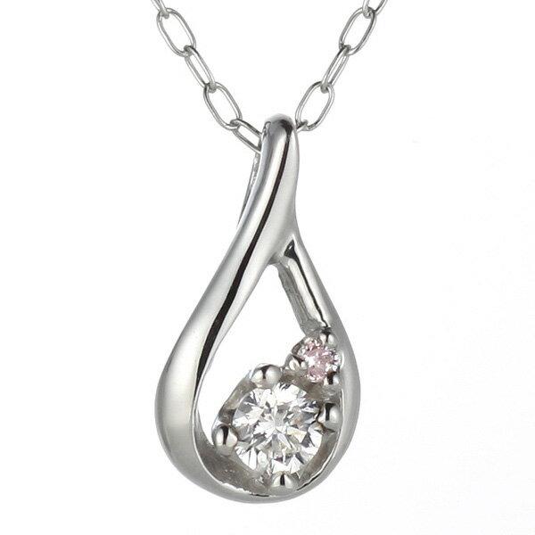 ピンクダイヤモンド ネックレス プラチナ ダイヤ...の商品画像