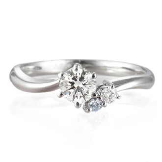 訂婚戒指訂婚戒指鑽石訂婚戒指列車時間表訂婚戒指♪AneCan刊登求婚(3月生日寶石)藍緑色白金鑽石戒指(ラウンドブリリアント)1粒石頭fs3gm